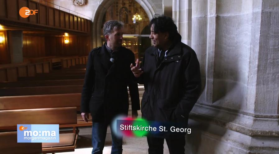 Boris und Cherno in der Stiftskirche St. Georg Tübingen