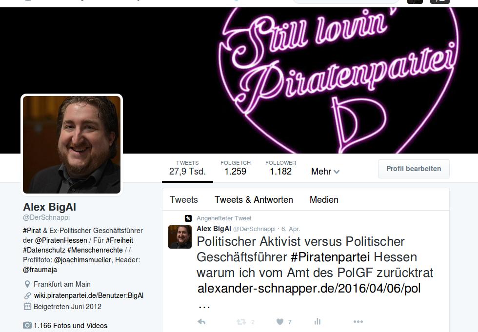 UPDATE: Pause mit @derschnappi auf Twitter – beendet