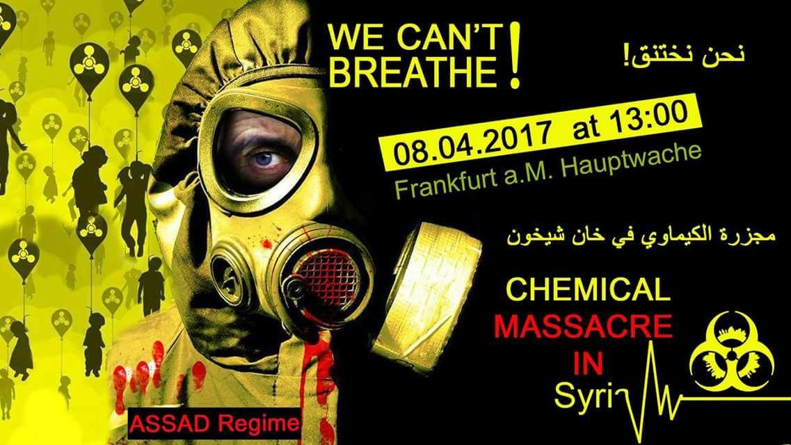 "Aufruf Demo ""Stop the war in Syria"" Frankfurt am 8. April 2017 @noborder_ffm"