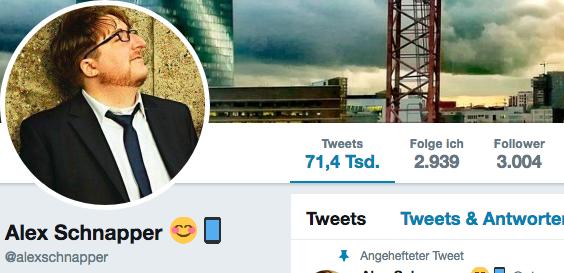 Über 3.000 Follower