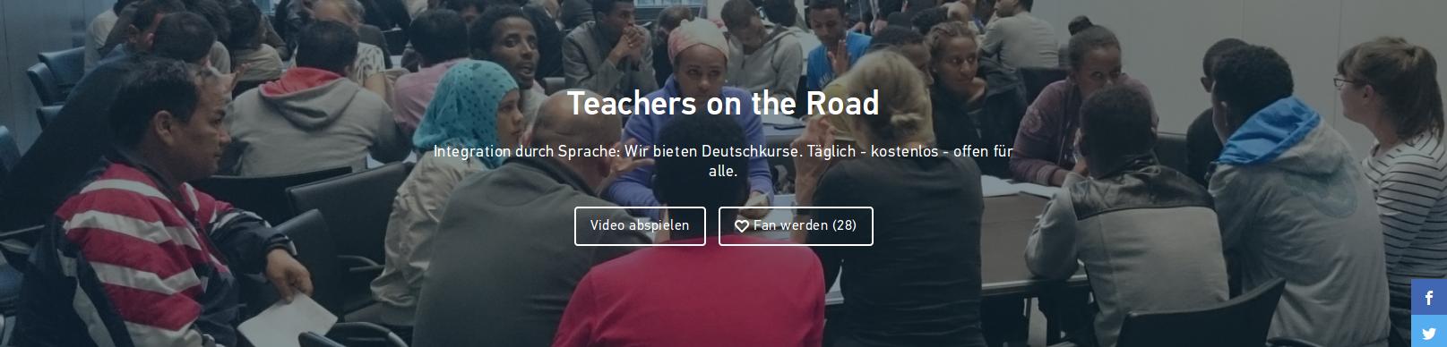 Unterstützt Teachers on the Road für den Deutschen Integrationspreis 2018