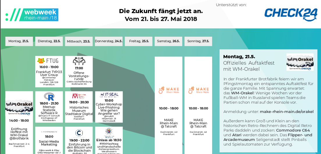 Die Zukunft fängt jetzt an auf der Webweek Rhein-Main 2018