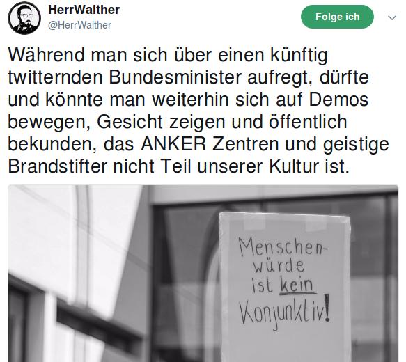 Tweet des Tages @HerrWalther – Gesicht zeigen