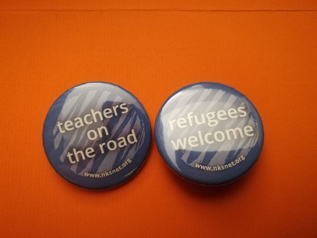 Buttons von Teachers on the Road Frankfurt - Refugees Welcome