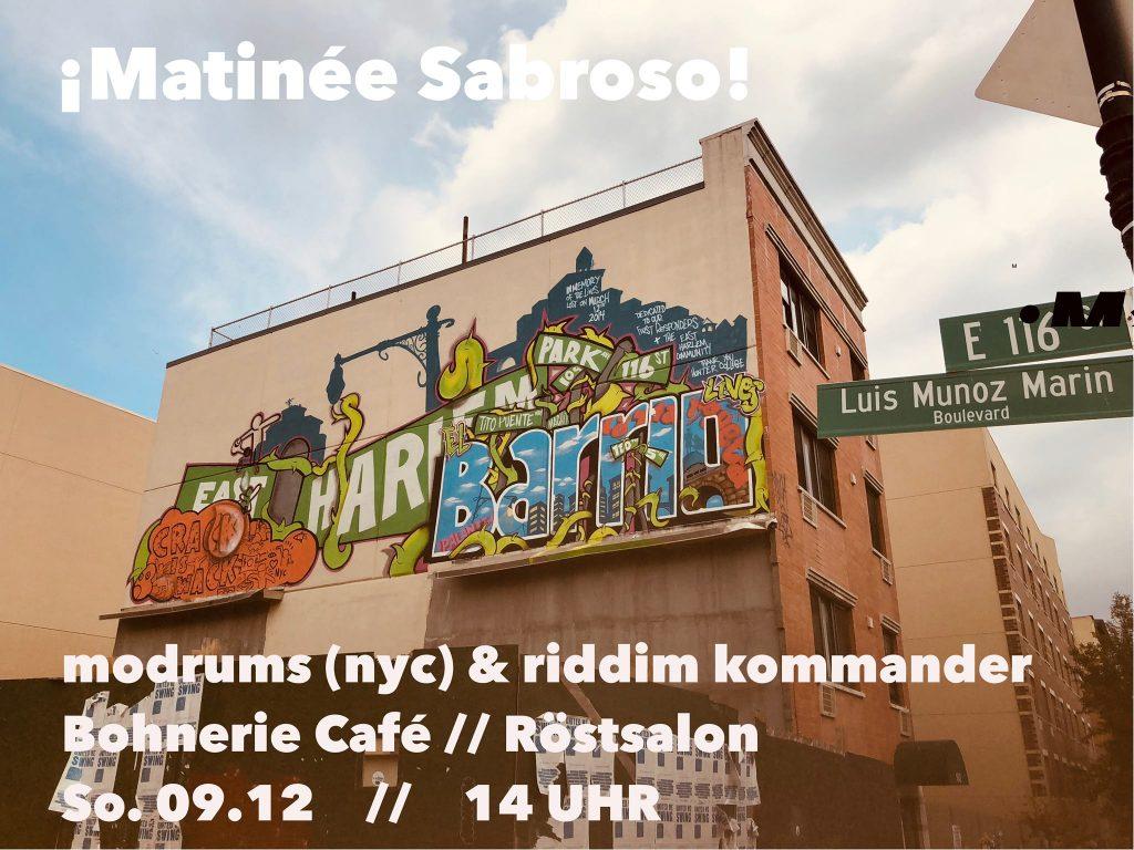 Matinée Sabroso in der Bohnerie (DJ session)