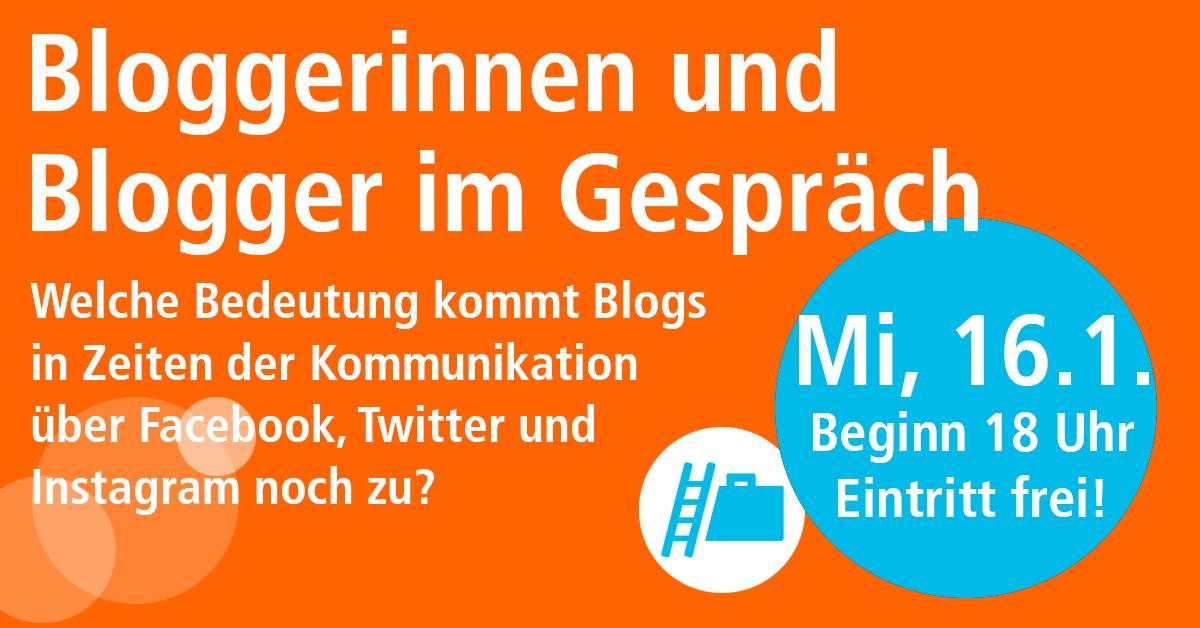 Bloggerinnen und Blogger im Gespräch, VHS Frankfurt, 16.01.2019