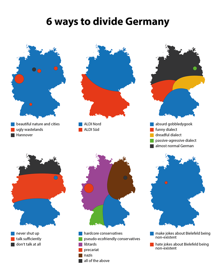 Six ways to divide Germany, Facebook: Terrible Maps