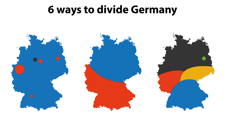 Header Six ways to divide Germany, Facebook: Terrible Maps
