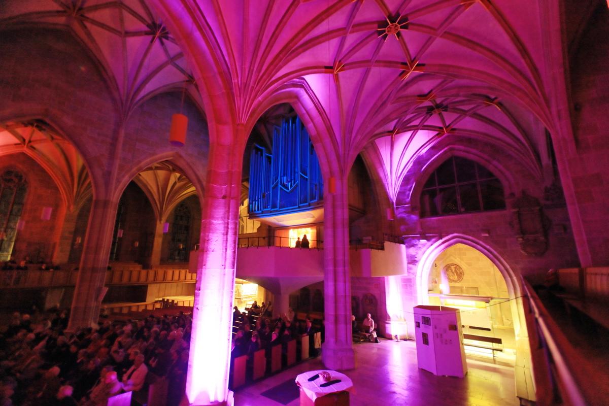 Stiftskirchenbeleuchtung von Alexander Schnapper 02.10.2009, Stiftskirche Tübingen