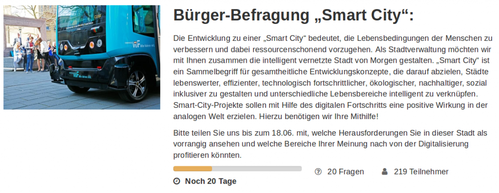 "Screenshot der Bürger-Befragung ""Smart City"""
