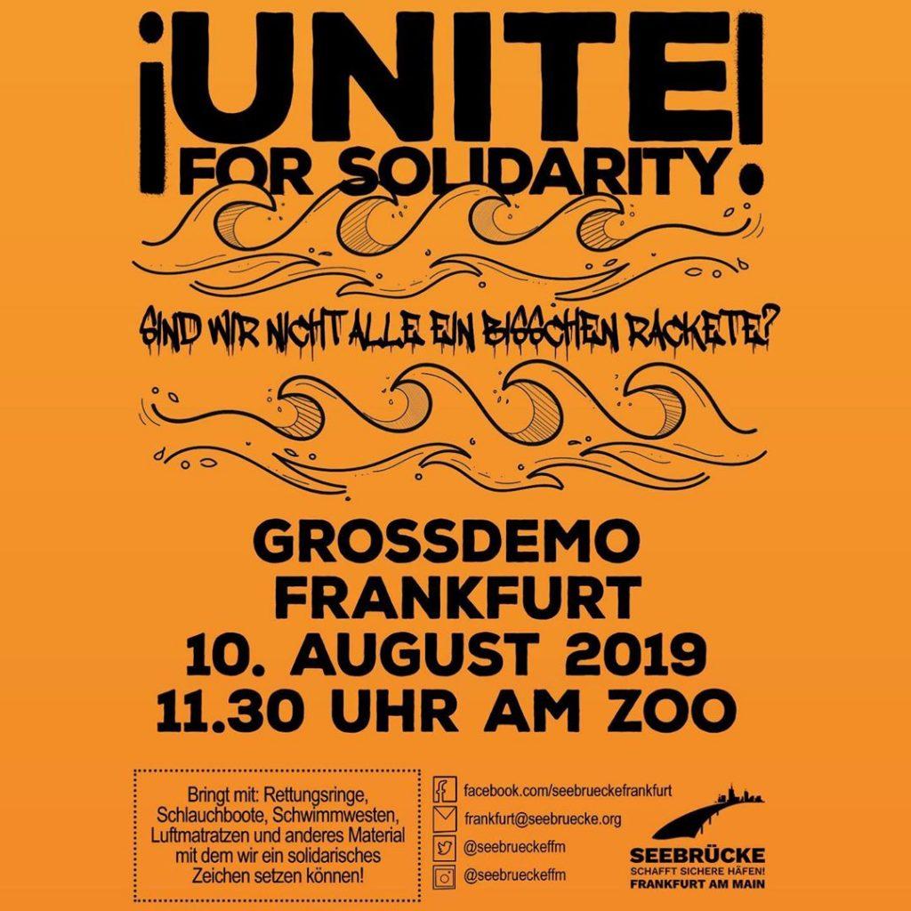 Grossdemo Frankfurt am 10. August 2019 um 11:30 Uhr am Zoo