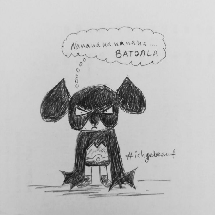 Batoala - a sketch about a koala dreaming of being Batman