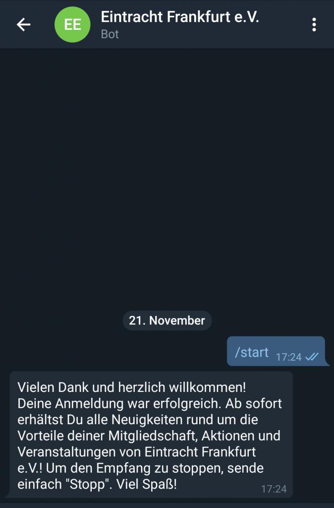 Eintracht Frankfurt Telegram