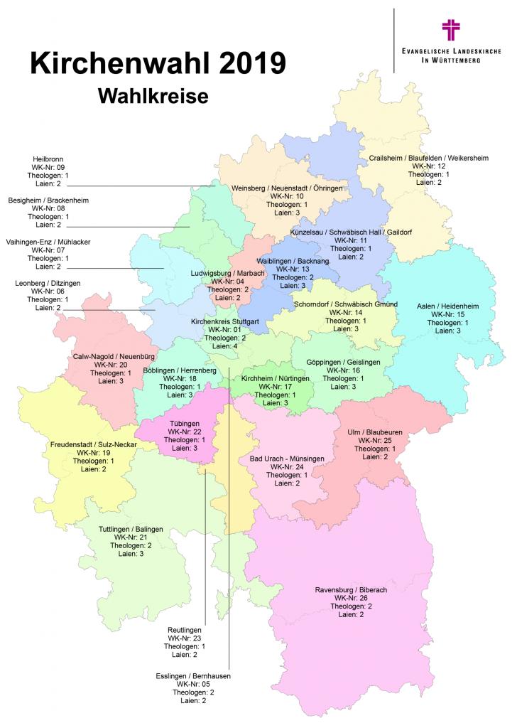Kirchenwahl 2019 Wahlkreise